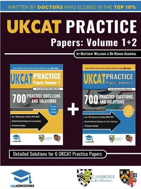 UCAT (UKCAT) Practice Test Volume 1+2 (1400+ Questions)